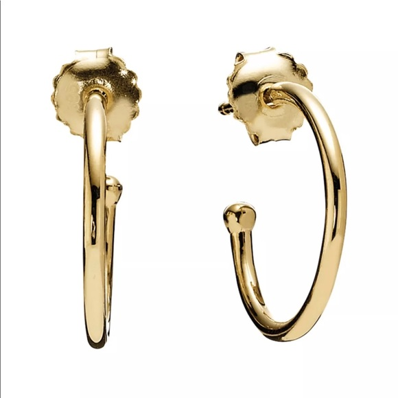 bfffd15bb Pandora Jewelry | 14k Gold Hoop Earrings | Poshmark