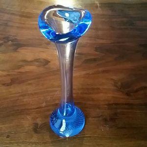 Other - Rose bud vase,  blue glass