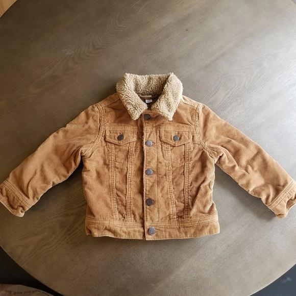Gap Jackets Coats Baby Boys 3 Corduroy Sherpa Lined Jacket New