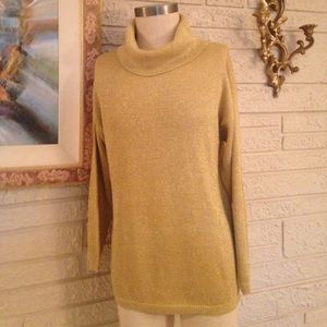 Jennifer Moore Metallic Gold Sweater