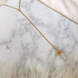 Jewelry - Clear Quartz Crystal Lariat Necklace