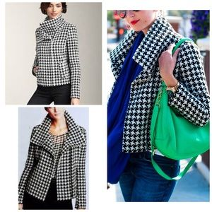 Talbots Plus Size Houndstooth Wool Coat