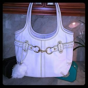 COACH White Leather purse handbag