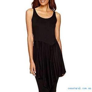 Black asymmetrical tunic