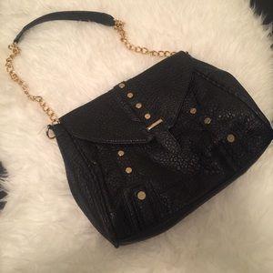 Handbags - Black Bag w/ Gold Hardware
