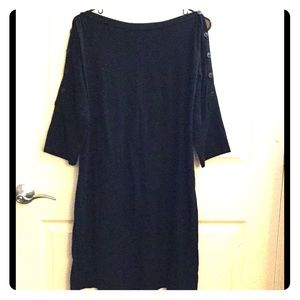 Black maternity tunic, open shoulders