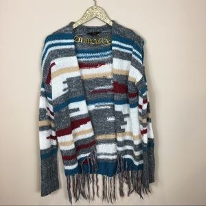 SALE Jack by BB. Dakota Huddy Aztec Fringe Sweater