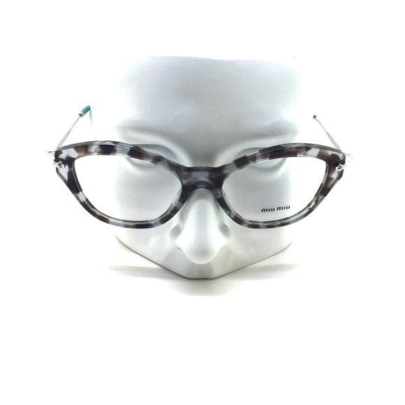 84576d5f2635 New Miu Miu VMU 02O UAH-1O1 52mm Eyeglasses