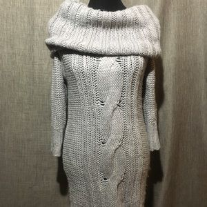 Kenji for Anthropologie Knit Sweater Dress in Gray