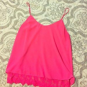 Size L pink tank top