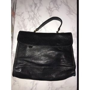 Handbags - Black Leather Satchel Type Bag