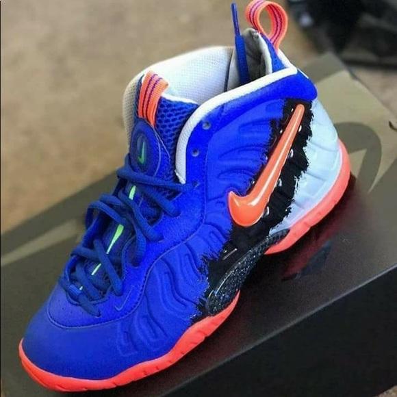 blue and orange nike foamposite cheap