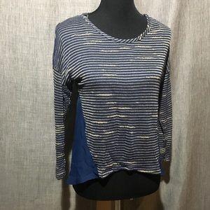 Francesca's l.o.t apparel Blue and Tan top NWT!