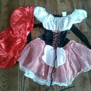 Dresses & Skirts - Little red riding hood costume siZe small 8 sexy