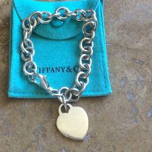 Tiffany & Co Blank Heart Bracelet