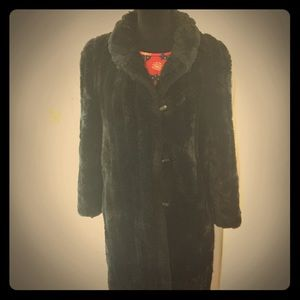bd526e15af7 Saint Laurent Jackets & Coats - Vintage Jacques St Laurent Black Faux Fur  Coat ...