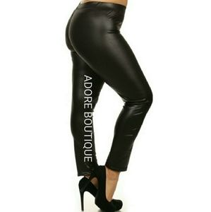 Other - PLUS SIZE PU LEGGINGS🖤🖤