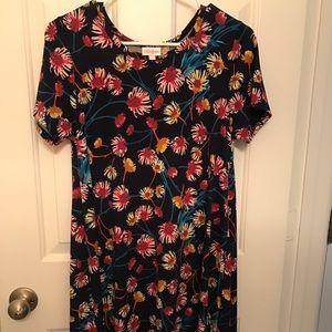 NWOT LulaRoe Carly Dress - Size XS, Navy w/Floral