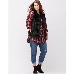 Lane Bryant Soft Faux Fur Vest! $149~ 18/20