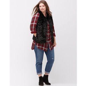 Lane Bryant Soft Faux Fur Vest! $149~ 18/20