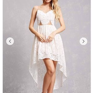 Dresses & Skirts - 👰🏼 High low lace lined white lace dress