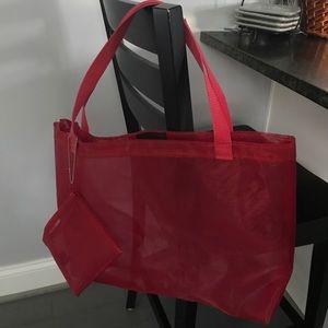 Express large Mesh beach Tote Bag