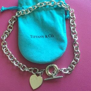 Tiffany & Co Toggle Necklace w/ Heart Charm