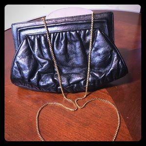 oscar de la renta leather clutch