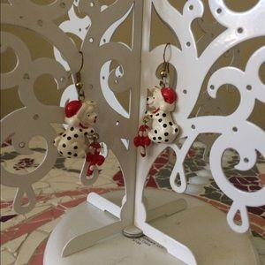 Jewelry - Dalmatian 🎅 dangle earrings