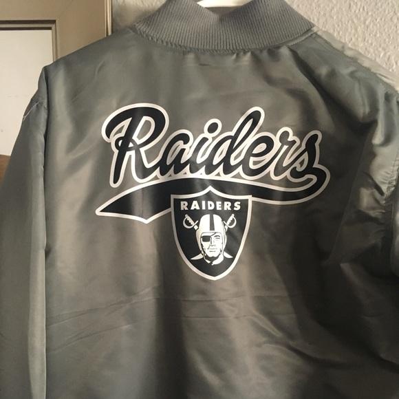 newest d63a5 d173d raiders bomber jacket