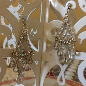 Jewelry - Rhinestone and crystal chandelier earrings