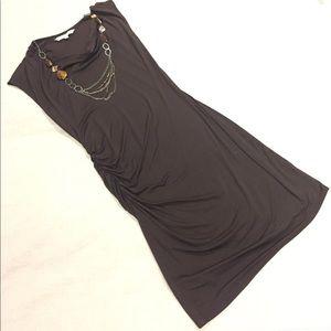 Dresses & Skirts - Trina Turk Cinch Waisted Brown Knit Dress