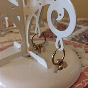 Jewelry - Gold hoop beaded earrings