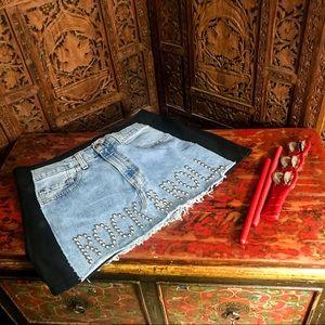 NWT! HardRock Hotel Rock & Roll Knit Denim Skirt