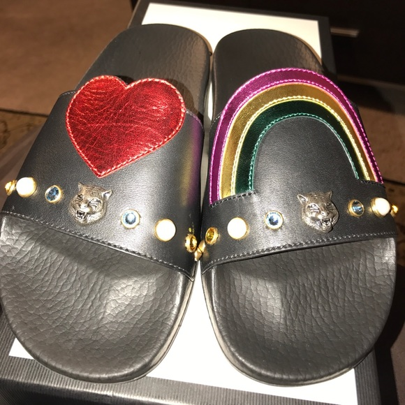20a4a896c95 Gucci Women s Pursuit Pool Slide Sandals
