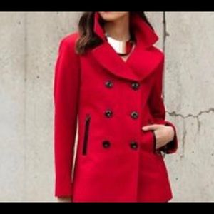 Wool Blend Black Rivet Coat
