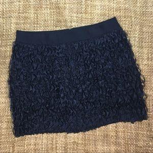 NWOT J Crew Ruffled Ribbon Mini Skirt Size 2