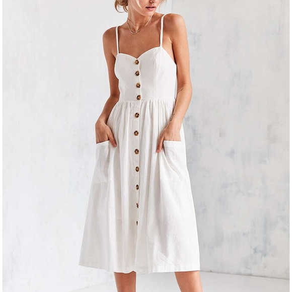 9bda4ce2e17 Cooperative Emilia linen midi dress. M 59efbd15f0137d3bba01e32c