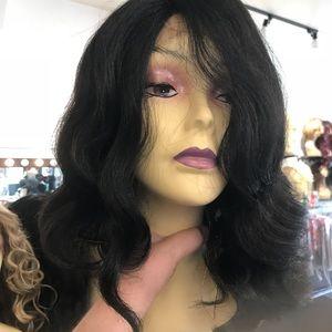 Accessories - Swisslace Long Bob Deep Wave Wig