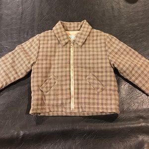 Dries Van Noten plaid boys infant jacket