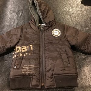 Miniman winter bomber fleece jacket