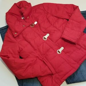 Red Charter Club Puffer Jacket