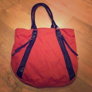 Banana Republic Orange nylon hobo satchel
