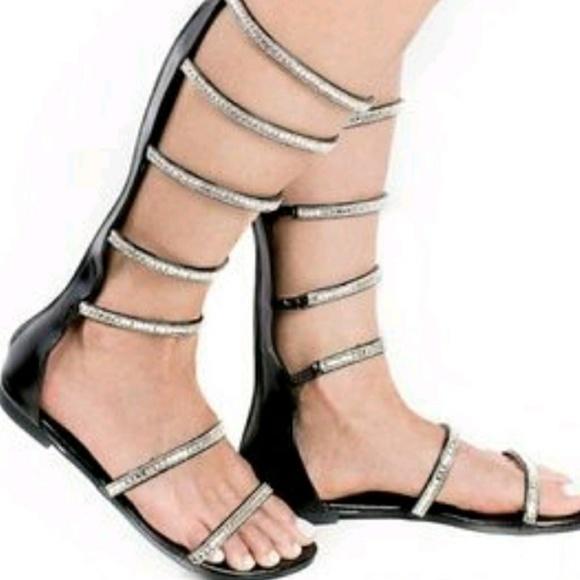 2472fdf742c Liliana black gladiator sandals