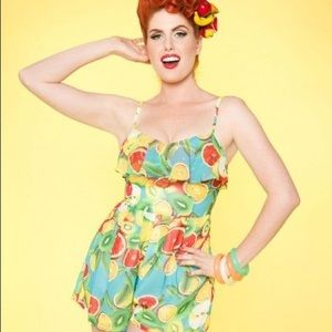 Pants - Pinup girl clothing fruit romper