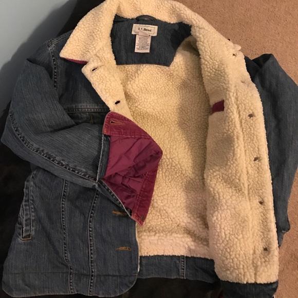 b595567cbd L.L. Bean Jackets & Coats | Ll Bean Sherpa Denim Jacket | Poshmark