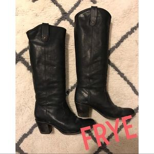 FRYE Jackie Button Riding Boots LIKE NEW