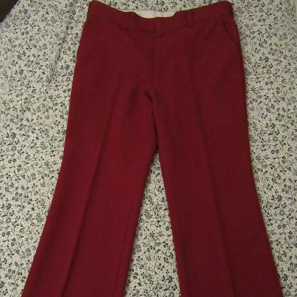 7d8b9a58afa Vintage Pants | Sears Kings Road Red Bell Bottom 36 Short | Poshmark