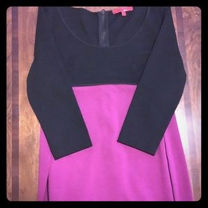 Narciso Rodriguez Black & Mulberry Medium Dress