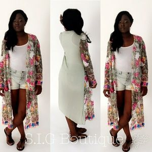 Other - Floral Cardigan/Cover up